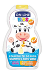 On line Kids šampon a sprchový gel milk and honey  NEW 250 ml (bílý)