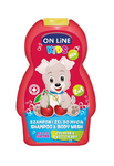 On line Kids šampon a sprchový gel sweet cherry 250 ml (červený)