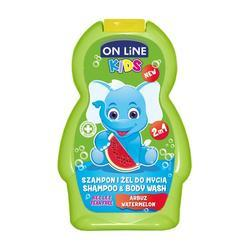 On line Kids šampon a sprchový gel meloun 250 ml (zelený)