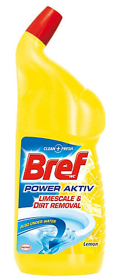 Bref Power Active WC gel 750 ml Lemon