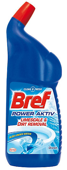 Bref Power Active WC gel 750 ml Ocean